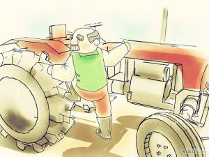 How to drive a tractor?
