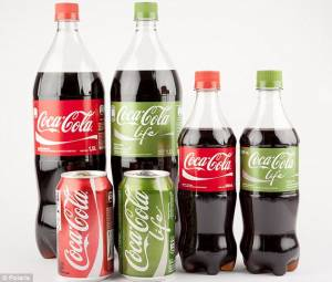 Green Coca Cola bottles