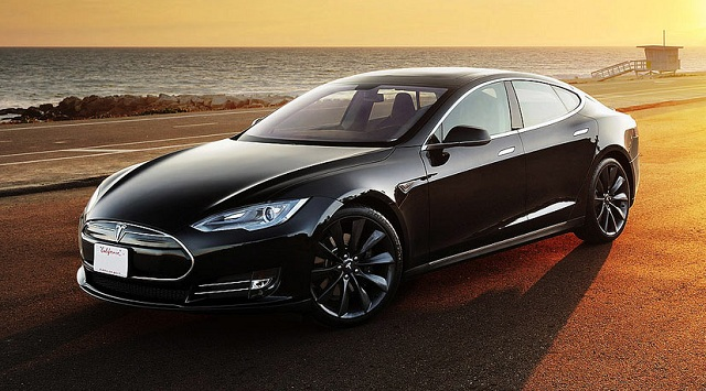 TESLA ELECTRIC CAR 2014
