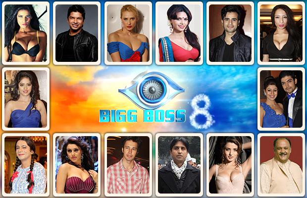 bigg boss 8 contestants list