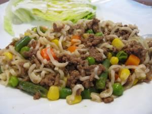 Tossed Ramen Noodles