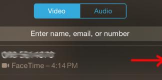 FaceTime video, audio call