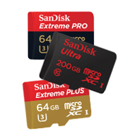 200GB microSD card of SanDisk