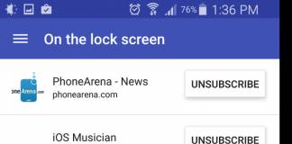 RSS Feed Stream Notifications on Your LockScreen