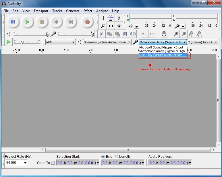 How to Clearly Record Streaming Audio with Audacity
