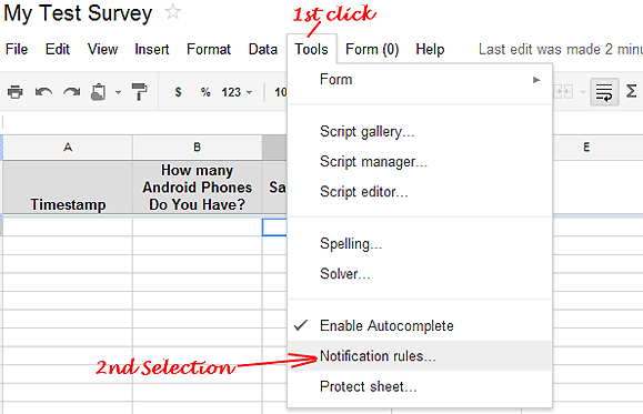 How to enable Email notification into Google Docs Forms