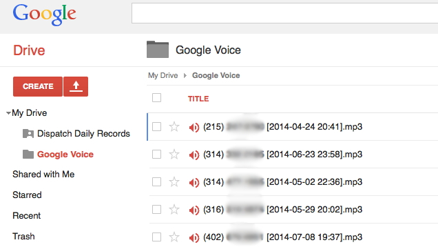 Save your Google Voicemail as an MP3 Files to your Google Drive