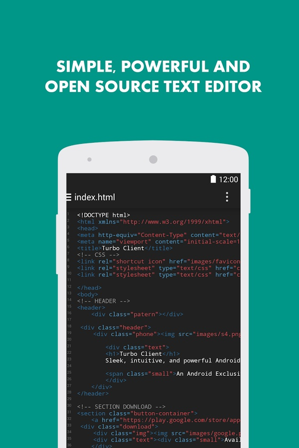 Turbo Editor Android