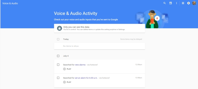 Delete Your Google Voice Search History