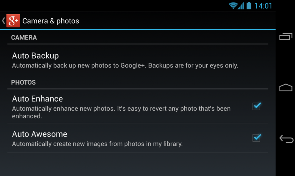 Google Photos automatic photo backup on or off