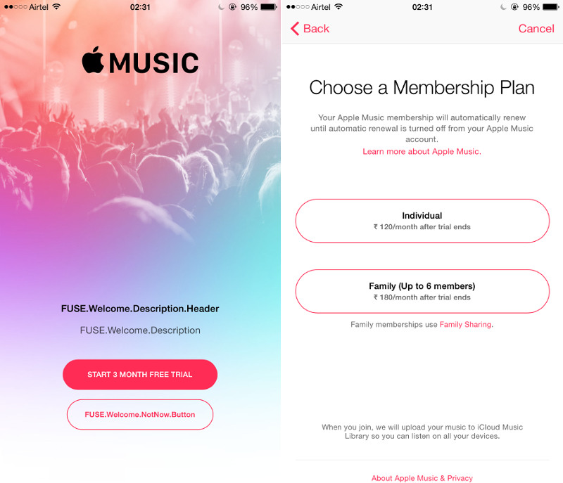Sign Up in Apple Music