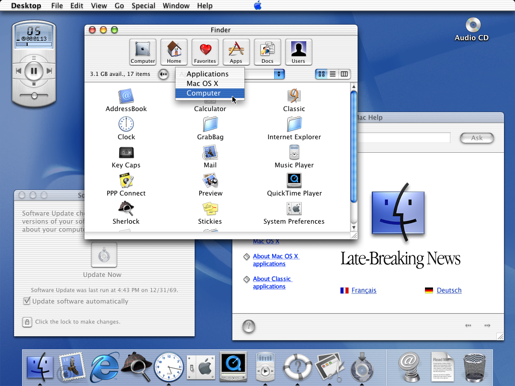 Mac OS X Public Beta Version