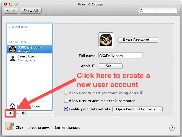 create a another user account in your Mac