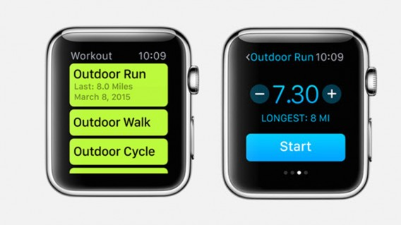 Workout Application of Apple Watch