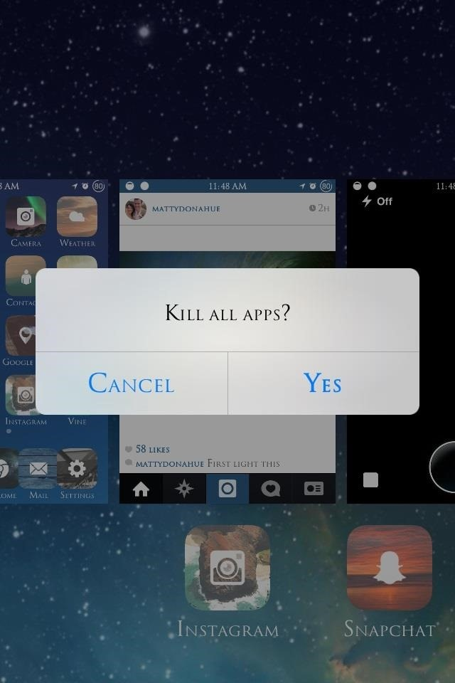 Close All IOS Background Apps