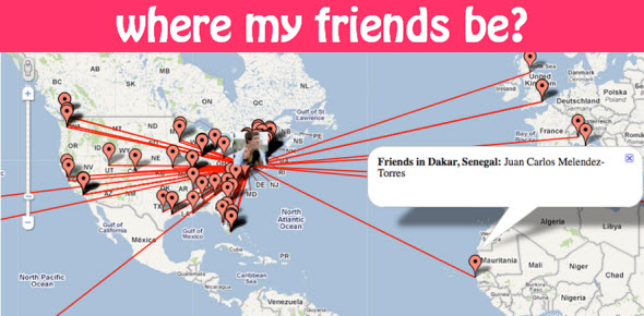 Know the Location of your Facebook Friends