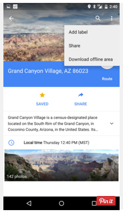 Google Maps for Offline Viewing