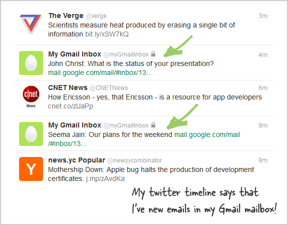 Receive SMS Alerts for Gmail through Twitter