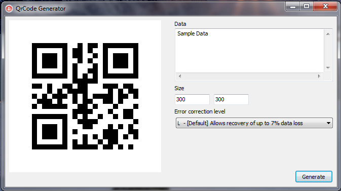 Delphi in Generating QR Codes