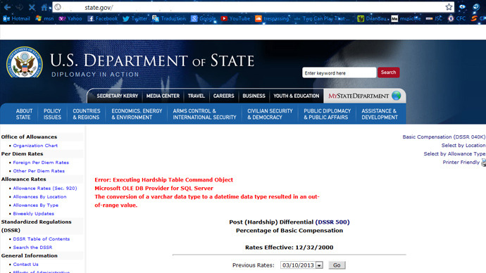 U.S. Government Sites