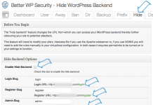 Better WP Security plug-in