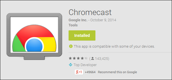 Chromecast Apps for Android
