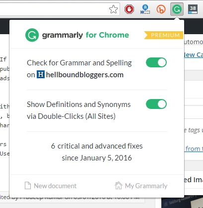 Grammarly for Google Chrome