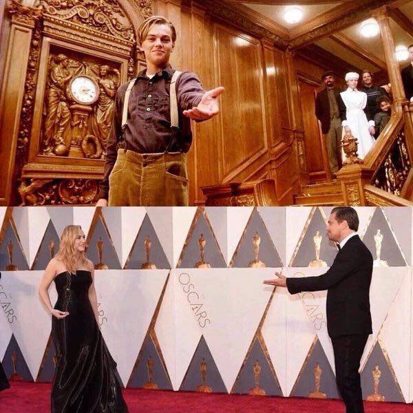 Eighteen years later Kate and Leo