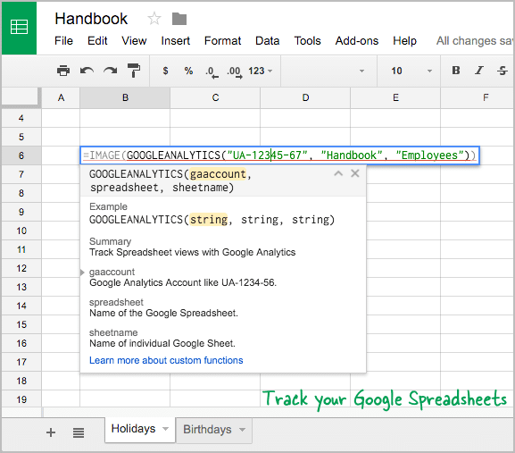 Track Google Spreadsheet Views by Using Google Analytics