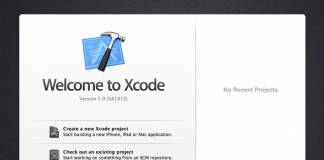 xcode welcome screen