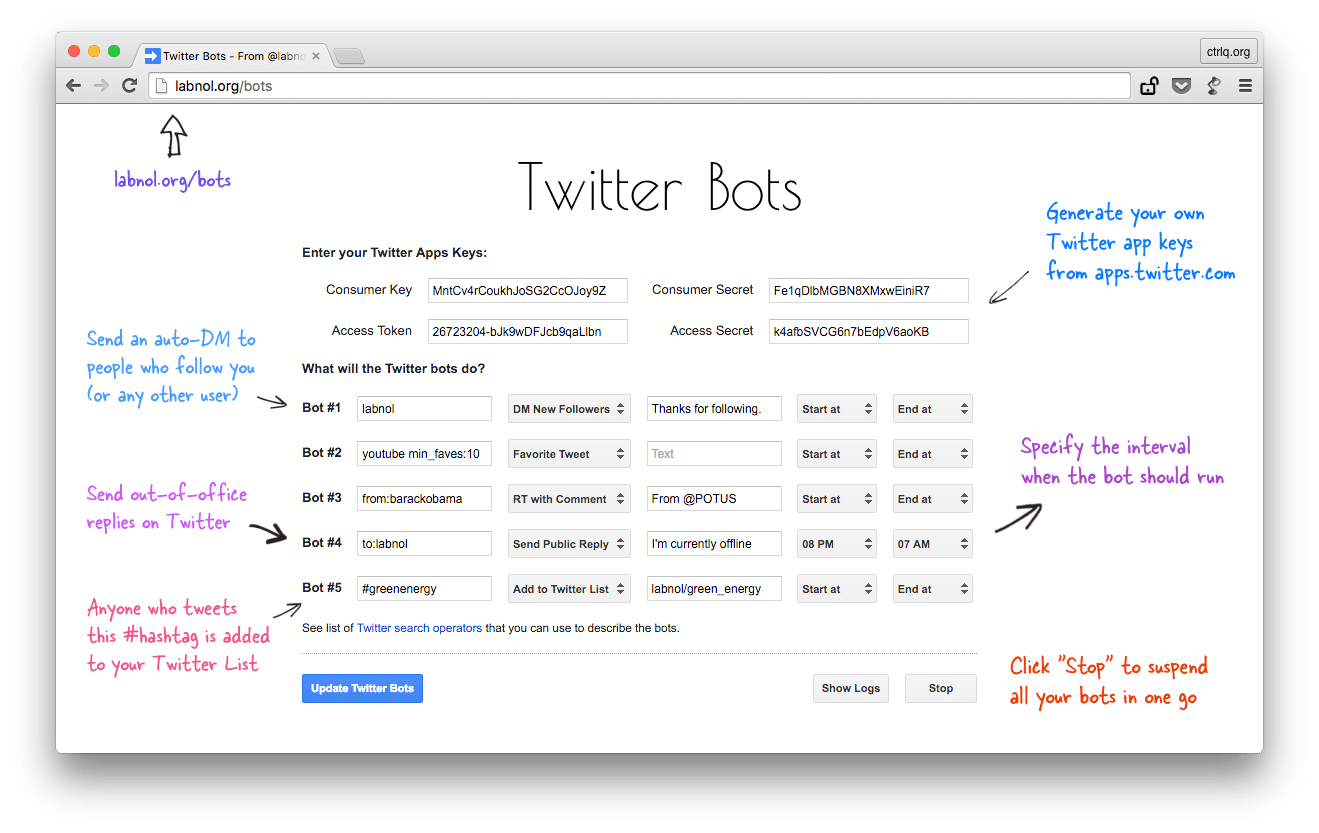 Create Your Own Twitter Bot in Five Minutes or Less