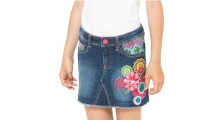 Desigual Embellished Denim Skirt