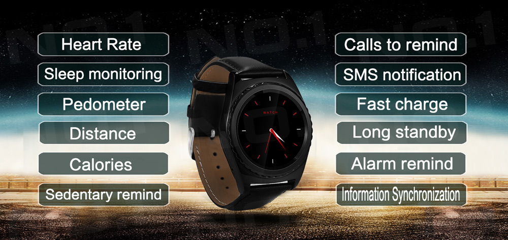 No.1 S5 Heart Rate Monitoring Camera Smart Watch