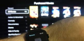 Apple Watch as an Apple TV Remote Control