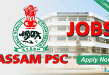 Assam PSC Recruitment 2017