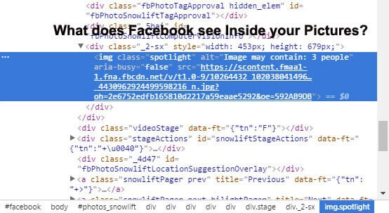 What does Facebook see Inside your Pictures